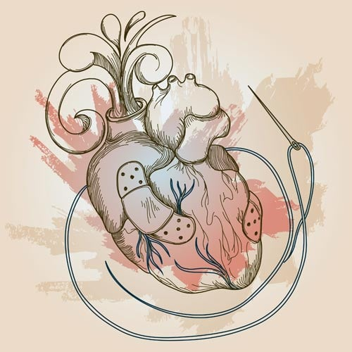 mending heart illustration