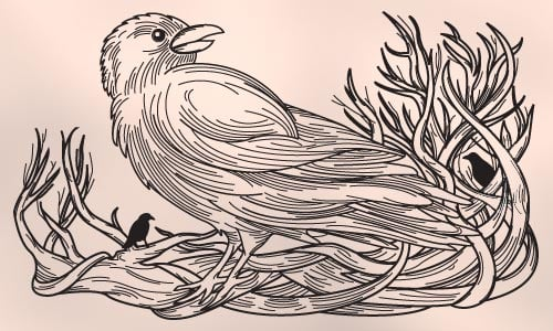 crow tattoo design