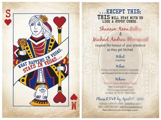 Vegas Wedding Invitation Design