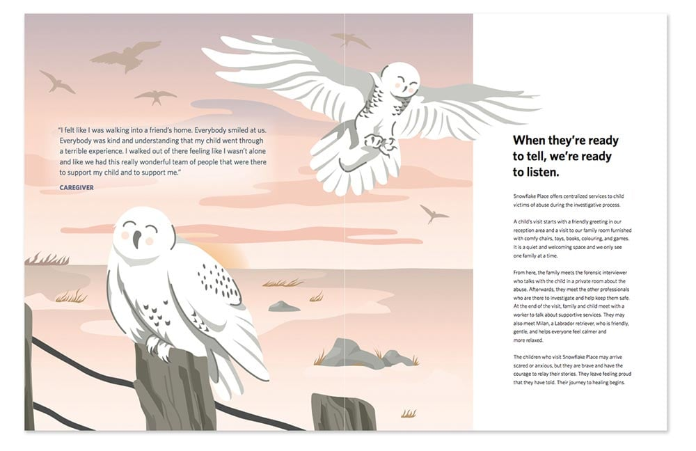 Snowy Owl Cartoon illustration