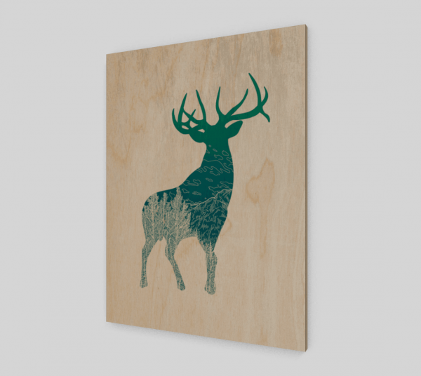 wood elk print